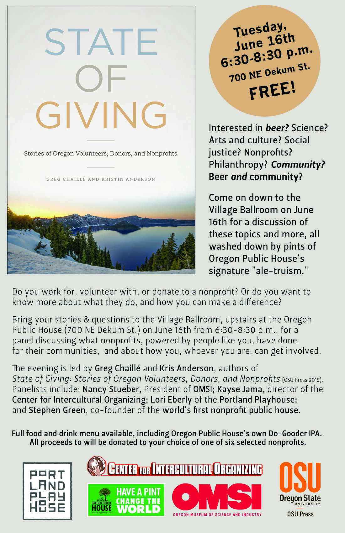 State of Giving Event Flyer OPH